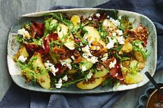 Potato, lentil and prosciutto salad with fig dressing