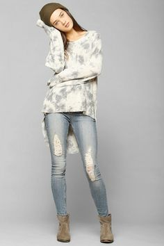 Staring At Stars Dye Effect Tunic Pullover Sweatshirt #urbanoutfitters