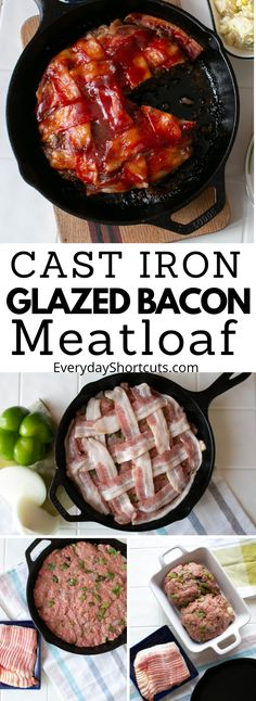 How do you make meatloaf taste better? Wrap it in bacon, of course! This Cast Iron Glazed Bacon Meatloaf takes traditional meatloaf to a whole other level and only 4 net carbs per serving. Cast Iron Skillet Cooking, Cast Iron Frying Pan, Iron Skillet Recipes, Cast Iron Dutch Oven, Cast Iron Recipes, Skillet Meals, Cast Iron Meatloaf Recipe, Cooking With Cast Iron, Iron Pan