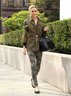 Olivia Palermo en mode camouflage
