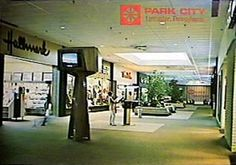 In the good old days, Park City Mall in Lancaster, PA, had these groovy TV pods throughout the mall. Park City Communications shared space with WLYH-TV CBS 15; WLYH could go live from any part of the mall.