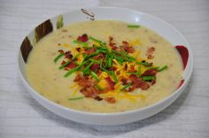 Crock Pot Loaded Baked Potato Soup   Wishes and Dishes
