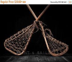 FLASH SALE til MIDNIGHT Vintage Lacrosse Sticks by shawnstpeter