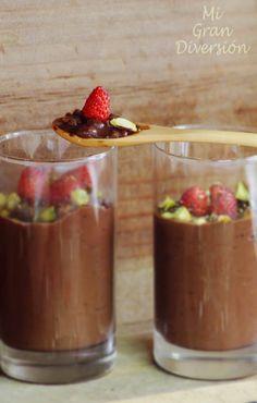 Mi Gran Diversión: Risotto de chocolate con pistachos y fresas