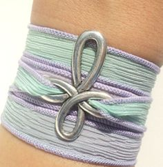 Hand Dyed Silk Wrap Bracelet Cross by BohemianEarthDesigns on Etsy, $24.95