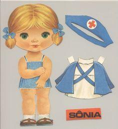 Paper Dolls Book, Vintage Paper Dolls, Paper Toys, Paper Crafts, Fabric Doll Pattern, Fabric Dolls, Doodle Art Journals, Kool Kids, Paper Animals