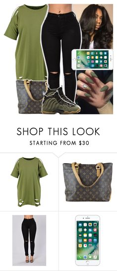 """""""gon' head and lurk and get yo feelings hurt"""" by daeethakidd ❤ liked on Polyvore featuring Boohoo, Louis Vuitton and NIKE"""