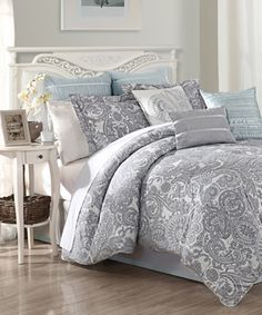 Another great find on #zulily! Blue Luxe Nine-Piece Comforter Set by S.L. Home Fashions #zulilyfinds