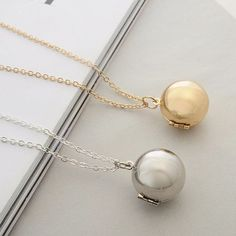 Buy Secret Information Ball Small Box Necklace, sale ends soon. Be inspired: enjoy affordable quality shopping at Gearbest! Necklace Box, Pendant Necklace, Cheap Accessories, Love To Shop, Small Boxes, Card Wallet, Beautiful Necklaces, Silver Necklaces, Gifts For Women