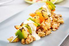Würzige Ananas-Paprika-Spiessli