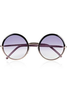 amazing Cutler & Gross leather-trimmed sunnies I must own....John Lennon's shades.