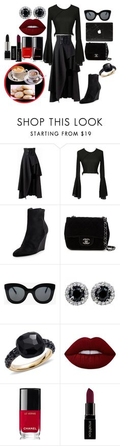 """""""~ mornings"""" by moniquedawson09123 ❤ liked on Polyvore featuring Vince, Chanel, CÉLINE, Pomellato, Lime Crime, Smashbox and WallPops"""