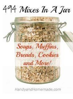 494 Mixes In A Jar: Soups, Muffins, Breads, Cookies And More (mason jars soup) Homemade Dry Mixes, Homemade Spices, Homemade Seasonings, Homemade Gifts, Diy Food Gifts, Mason Jar Mixes, Mason Jars, Soup Mixes, Spice Mixes