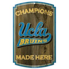 Ucla Bruins Made Here Wooden Sign Vintage Sign Shack Wood Signs