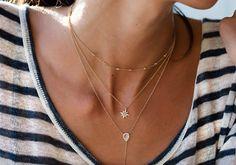14kt gold diamond and mini moonstone teardrop lariat necklace – Luna Skye