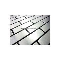Mosaique carrelage pierre et inox 1 plaque radus cr dence for Nettoyer credence inox
