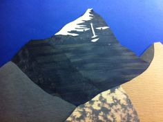 A draft version of Mt. Everest. For Book 1 of the Windows to Adventure science-learning book series: Which of the Mountains is Greatest of All? http://www.redphoenixbooks.com/Adventure.html  cut-paper artwork by Terry Lim Diefenbach. Copyright Red Phoenix Books.