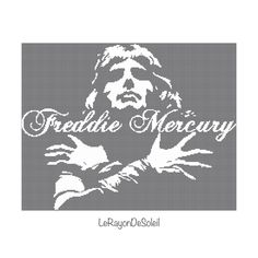 Freddie Mercury Modern cross stitch pattern door LeRayonDeSoleil
