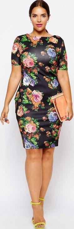 vestido floral - plus size - gordinhas