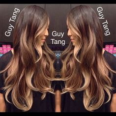 Even if you cut her hair off right below her shoulders the placement and saturation of the color on this girl is beautiful. Love~Bestie Balayage Ombre by Guy Tang Love Hair, Great Hair, Gorgeous Hair, Guy Tang Balayage, Balayage Hair, Bayalage, Hair Color Ideas For Brunettes Balayage, Guy Tang Hair, Hair Highlights