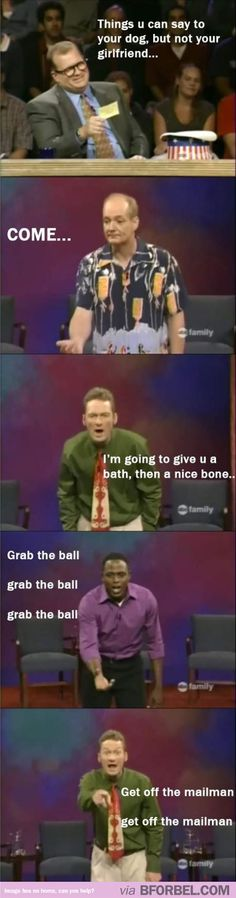 Things you can say to your Dog but not your Girlfriend #tv #comedy