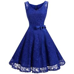 Dressystar Women Floral Lace Bridesmaid Party Dress Short Prom Dress V... (€25) ❤ liked on Polyvore featuring dresses, blue bridesmaid dresses, floral bridesmaid dresses, floral prom dresses, blue lace dresses and blue cocktail dress