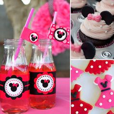 How to throw a minnie mouse themed party. Dottie already love minnie mouse.maybe this will be her birthday party theme? Minnie Mouse Party, Minnie Birthday, Mickey Party, Mouse Parties, First Birthday Parties, Birthday Party Themes, Birthday Ideas, Birthday Bash, Mickey Mousr