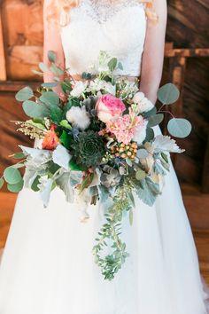 wild organic wedding bouquet