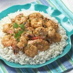 Yucatan Shrimp Recipe Main Dishes with vegetable oil, large shrimp, onions, garlic, chipotle peppers, Skippy® Super Chunk® Peanut Butter, knorr shrimp flavor bouillon cube, water, chopped cilantro fresh