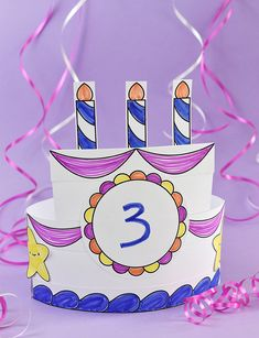 Celebrate the birthday kid with a fun printable hat they can decorate! Birthday Cake Crown, Birthday Book, Birthday Fun, 1st Birthday Parties, Birthday Crowns, Birthday Hats, Preschool Birthday, Birthday Activities, Preschool Crafts