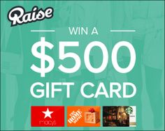 HOT new giveaway - enter to win a $500. gift card of your choice!!!
