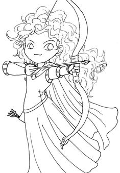 Brave Printable Coloring Pages. The core story of this film is about the life of a girl named Merida, the only daughter of the Kingdom of Dunbroch in the Scottish highlands. Merida h. Princess Coloring Pages Printables, Kids Printable Coloring Pages, Disney Princess Coloring Pages, Cartoon Coloring Pages, Coloring Pages To Print, Coloring Book Pages, Coloring Pages For Kids, Disney Princess Merida, Disney Princess Colors