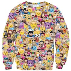 All the madness of emojis finally on a sweater. HIGH FIVE ✋ https://www.shelfies.com/products/emoji-madness-sweater #shelfies