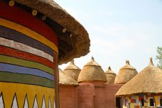Taberma village, Togo. These huts are typical of northern Togo, near the border with Benin. #the2bandits #wanderlust