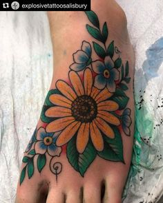 Foot Tattoos, Color Tattoo, Instagram, Tattoos, Color Tattoos, Tattoo Colors