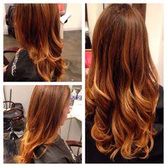 Ombré & haircut • HairByRachel The Woodlands, Tx www.facebook.com/HairByRachelXo
