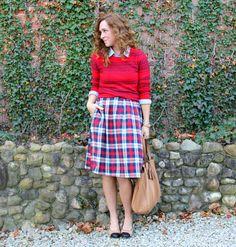 Menzies plaid skirt for Kristina J. Etsy store