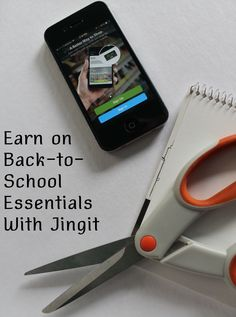 #AD How to earn cash back on school supplies with #Jingit!
