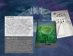 The Wayfarer Tarot 2016 Calendar of Light and Shadow - $25.00 - Handmade Art, Crafts and Unique Gifts by Iris X Readings, Lotions and Other Potions