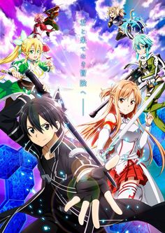 Kirito and everyone in Sword Art Online Sword Art Online Asuna, Wallpapers Games, Animes Wallpapers, Film Anime, Manga Anime, Kunst Online, Online Art, Anime Naruto, Girls Manga