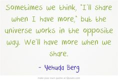 Yehuda Berg is Co-Director of Kabbalah Centre. He Tweeted this, and it really struck me.