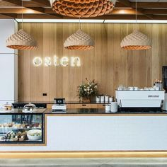 Espresso bar at @ostencafe in Hamilton ✨ @copper_id #acmecups #specialtycoffee #acmeforlife (at Osten)