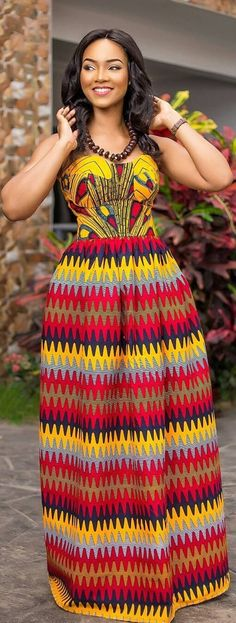 Gorgeous Kente Styles You Will Love to Rock - Sisi Couture African Dresses For Women, African Print Dresses, African Attire, African Wear, African Fashion Dresses, African Women, African Prints, African Inspired Fashion, African Print Fashion