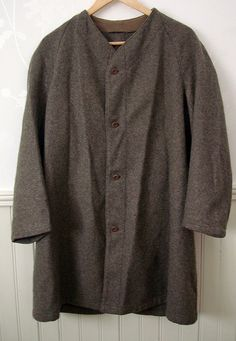 Felted Wool 1940s Swedish Army Underjacket for Greatcoats, Smock