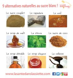 9 alternatives au sucre blanc