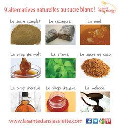 9 alternatives naturelles au sucre blanc !