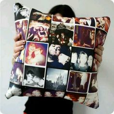 Personal picture pillow...but w travel pics