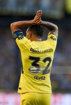 Carlos Tevez of Boca Juniors celebrates after scoring the first goal of his team during a match between Boca Juniors and San Martin de San Juan as part of the Superliga 2017/18 at Alberto J. Armando Stadium on February 25, 2018 in Buenos Aires, Argentina.