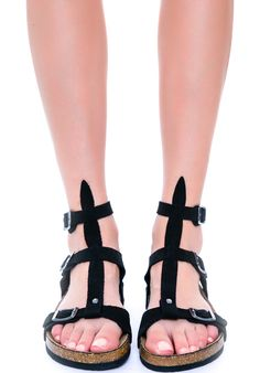 Y.R.U. Isis | Dolls Kill Really love this take on the birkenstock sandal
