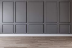 gray wall with gray picture frame moldings molding 5 Types of Wall Trim That Instantly Dress Up Your House Wall Trim Molding, Moldings And Trim, Diy Molding, Wall Molding Designs, Molding Ideas, Grey Picture Frames, Picture Frame Molding, Picture Frame Walls, Picture Frame Wainscoting